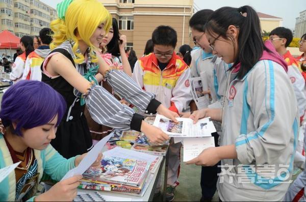 青岛v高中高中学生社团百花齐放促学生全面发励志美文高中图片