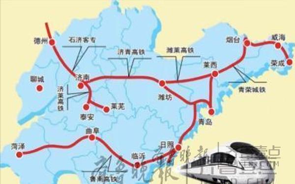 青连高铁建成后,青岛与上海之间的距离可由1400公里缩短为700多公里