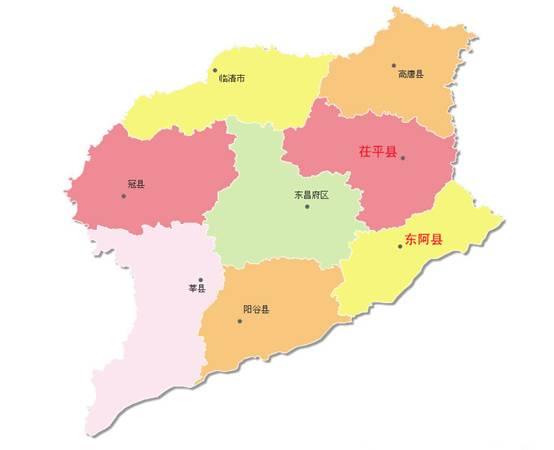 山东茌平县城地图
