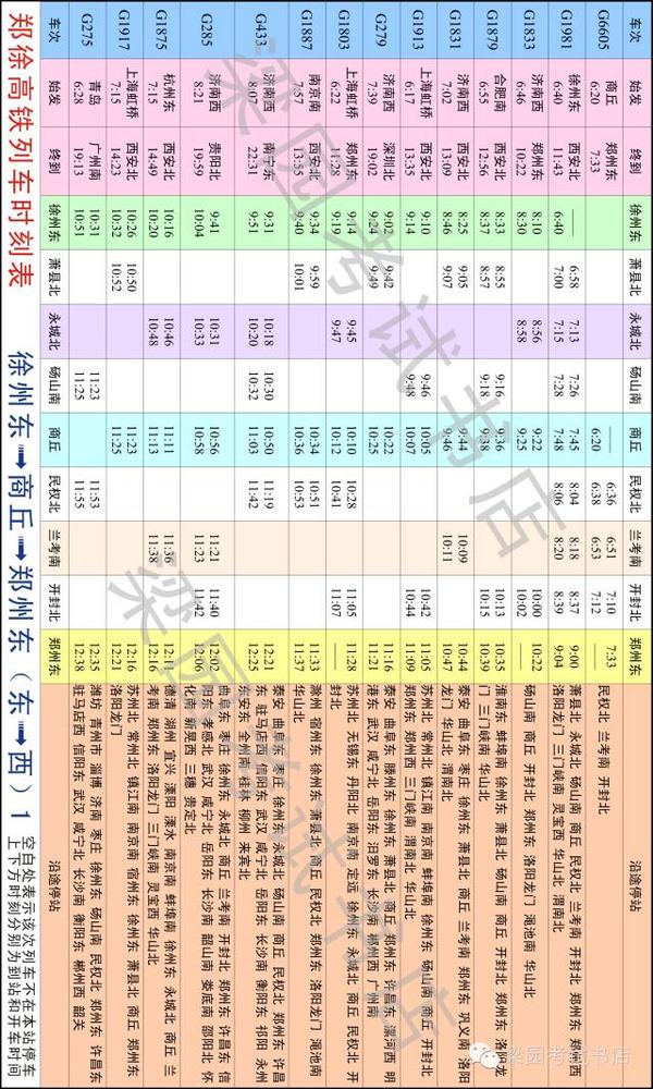 (附高铁时刻表)