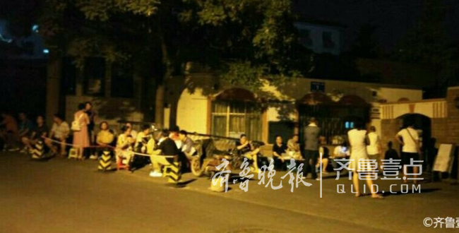 济南东方厕所家长今报名,双语提前一天连夜排画小学生小学图片