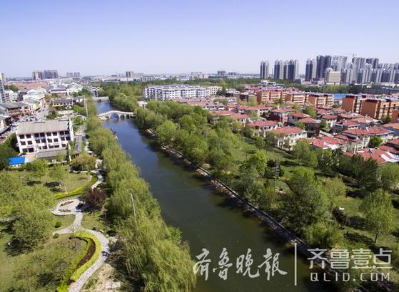 沙王河全长12公里中段河道十几年前改造成了景观河。(沙王河中段景观)