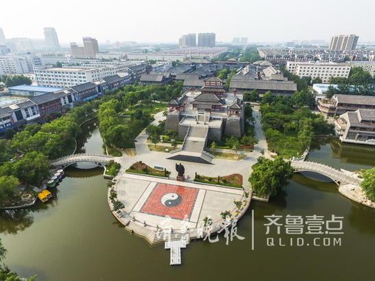(沙王河中段景观)